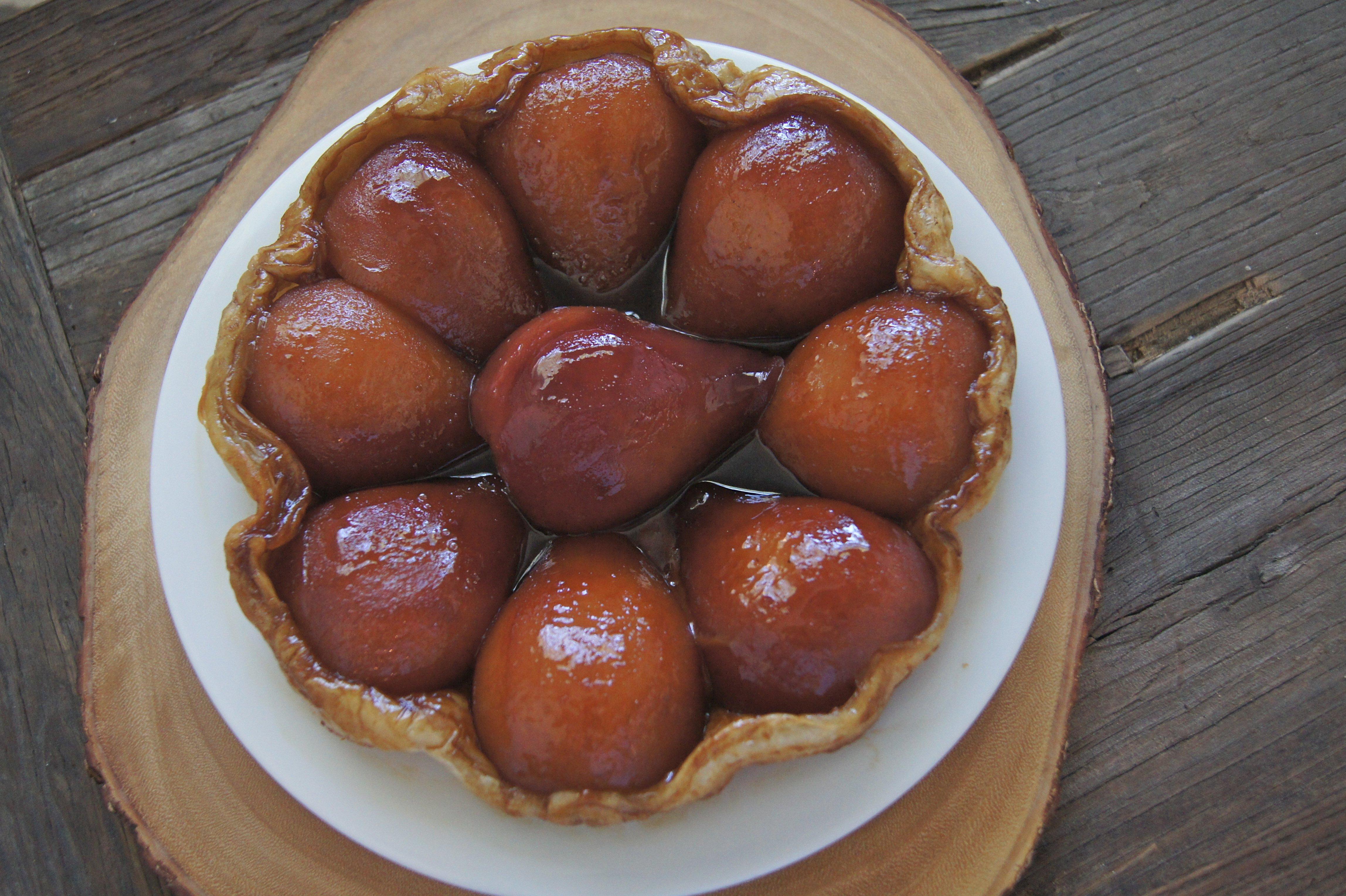 Poached Pear Tarte Tatin
