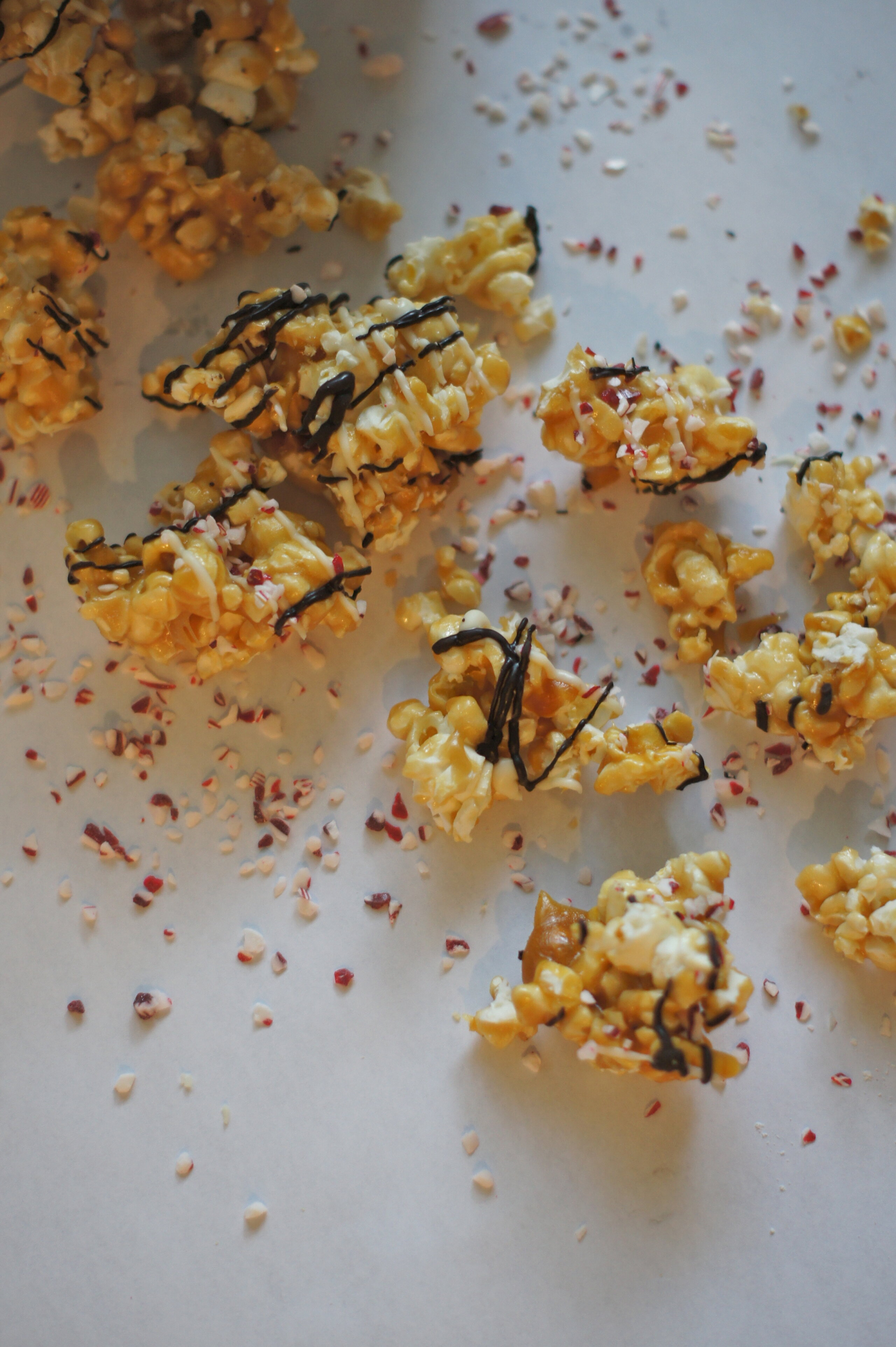 Chocolate Peppermint Caramel Corn