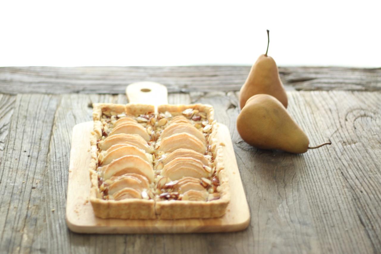 Pear + Almond Tart