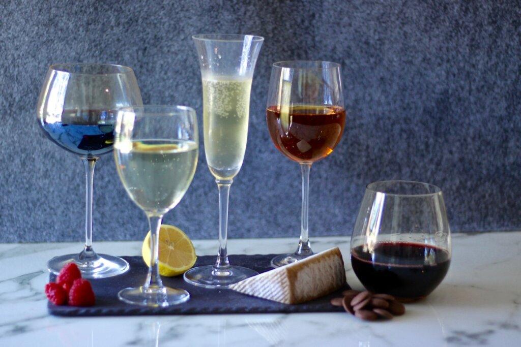 wines and dessert