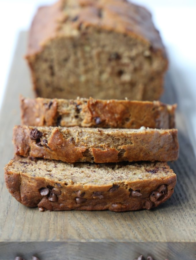 Brown Sugar Chocolate Chip Banana Bread