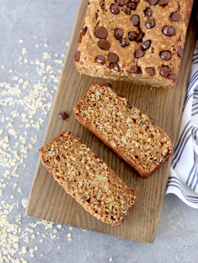 Whole Wheat and Oats Banana Bread