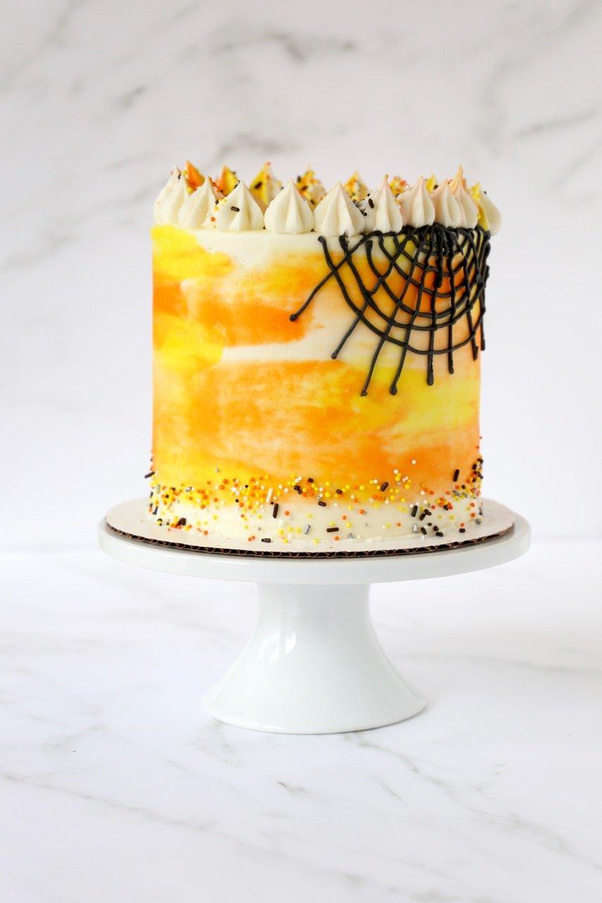 Halloween Vanilla Bean Funfetti Cake