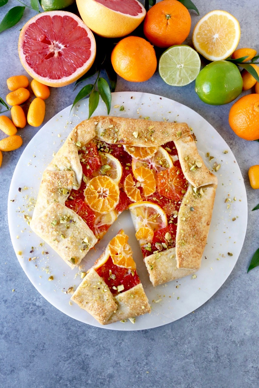 winter citrus galette