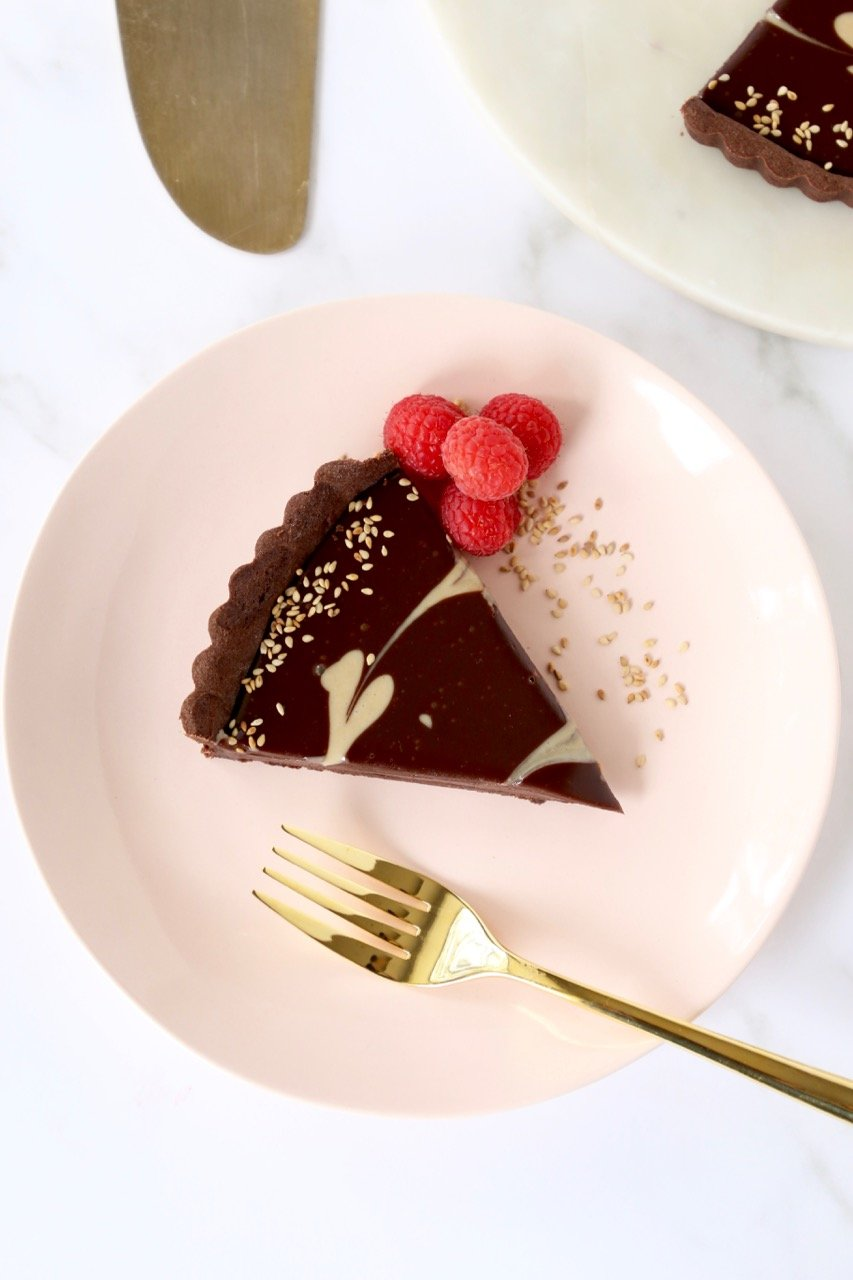 Chocolate Tahini Tart