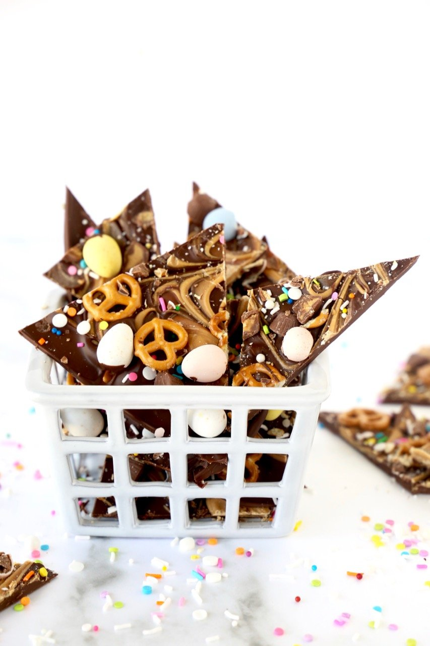 Chocolate Peanut Butter Easter Bark