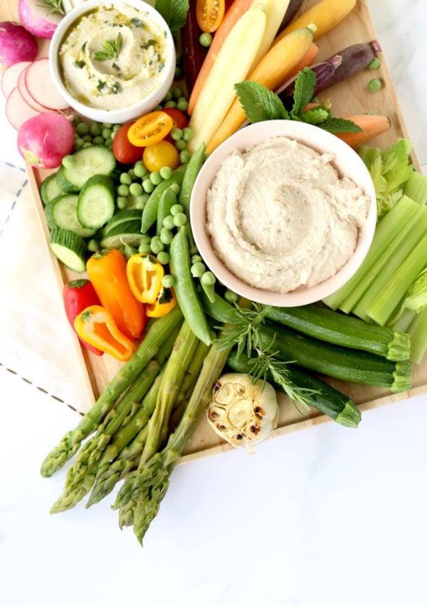 Spring Vegetable Crudités & White Bean Dip