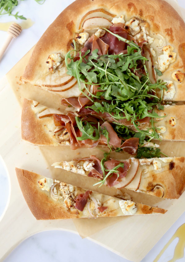 Honey, Pear and Prosciutto Pizza