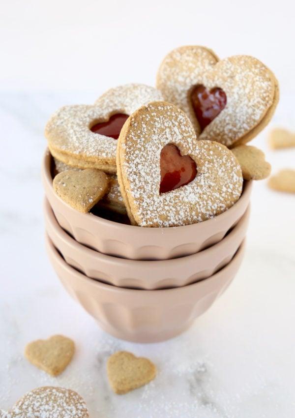 Hazelnut Plum Linzer Cookies (Gluten Free)