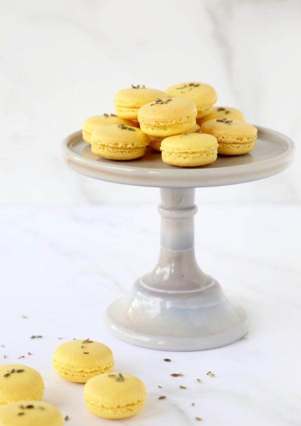 Lemon Lavender French Macaron