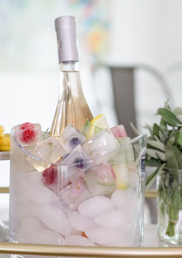 Floral and Fruit Ice Cubes