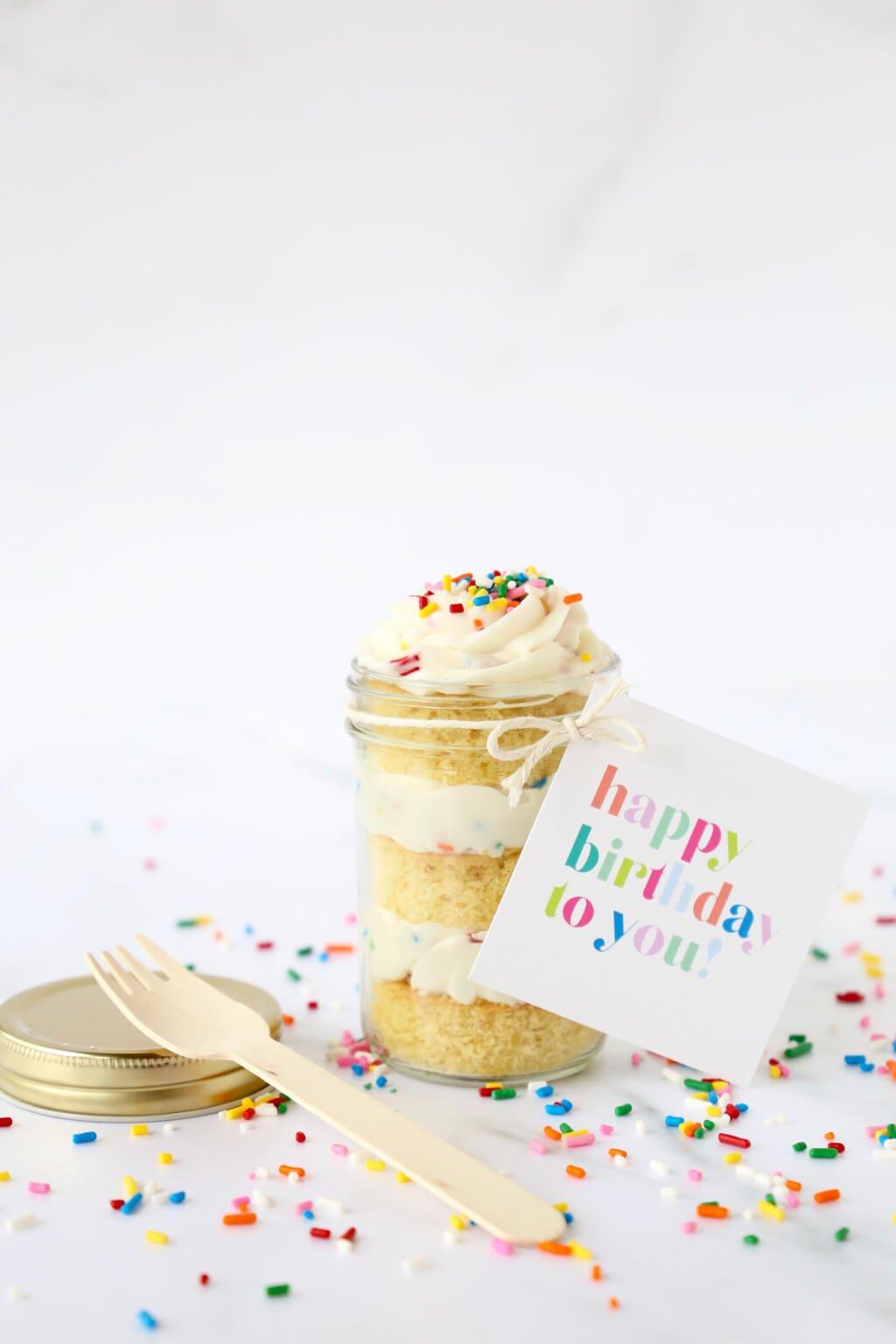 Outstanding Birthday Cake In A Jar Joy Oliver Funny Birthday Cards Online Fluifree Goldxyz