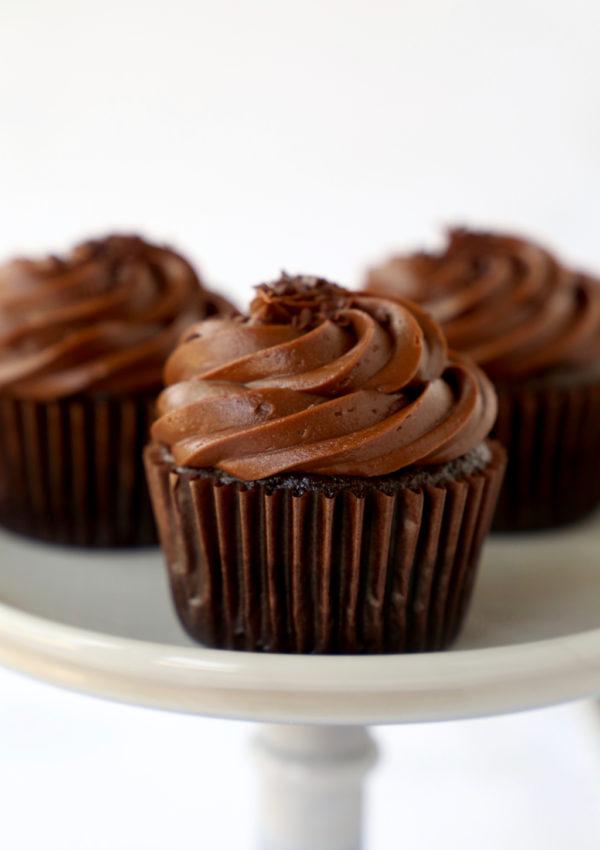 The Best Ever Chocolate Fudge Cupcakes