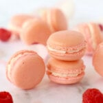 Raspberry Rose French Macarons
