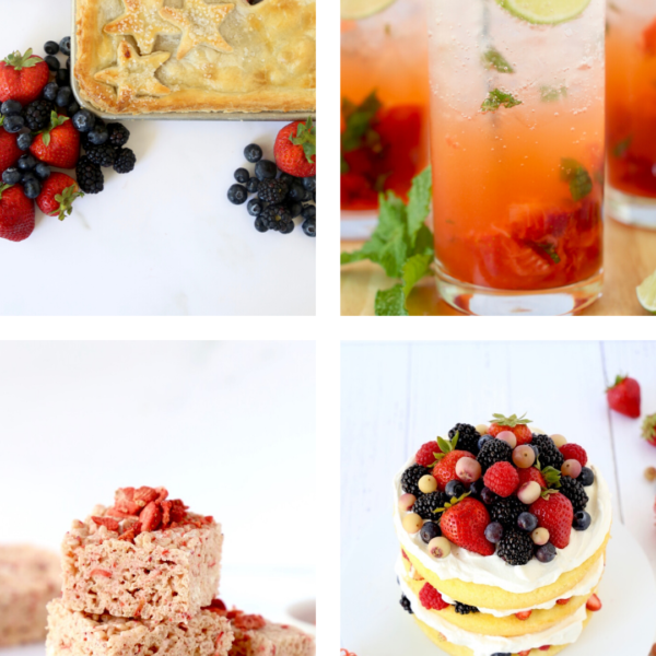 four pictures of fourth of july desserts