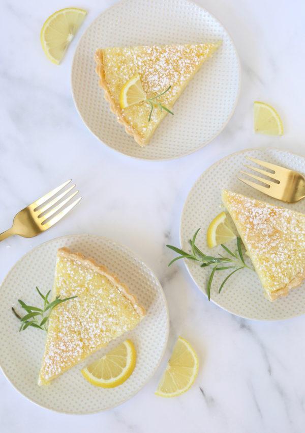 Lemon Buttermilk Chess Tart