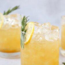 close up of maple bourbon sour cocktail