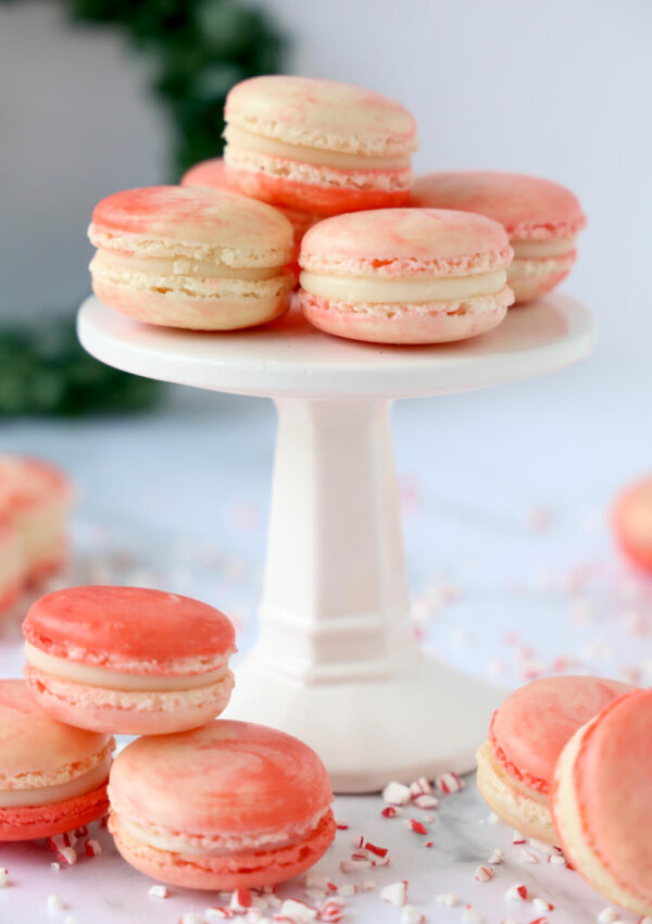 Peppermint White Chocolate French Macarons