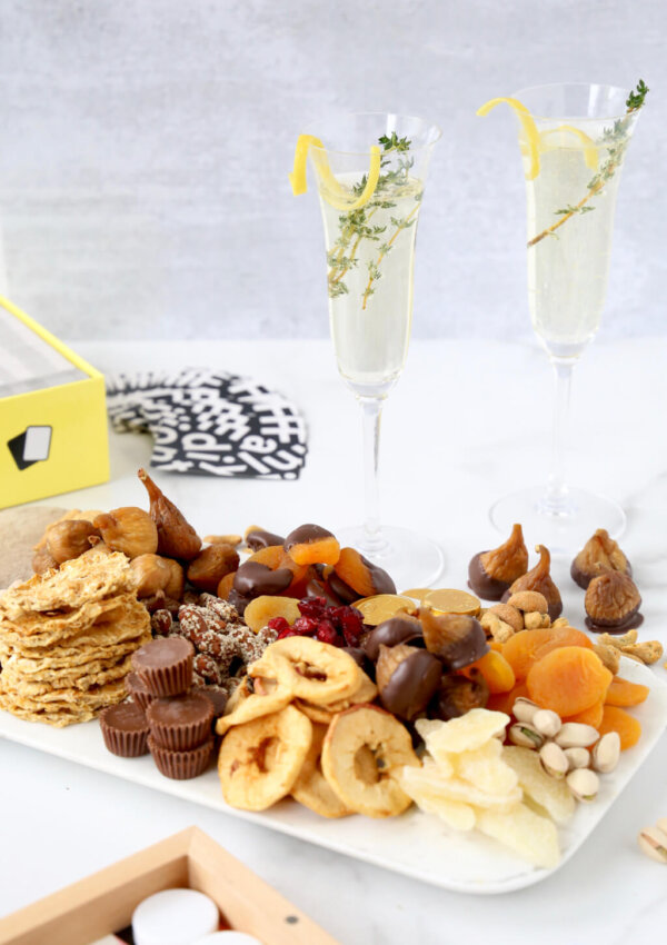 Dried Fruit and Nut Snack Board